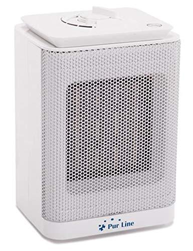 Purline HOTI F10 Calefactor cerámico con termostato regulable 750W-1500,sensor antivuelco,Portátil  para Cocina, Comedor, Dormitorio y Oficina