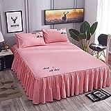BIANXU 3 unids/Set de Ropa de Cama Textil de Marca para el hogar, sábana Plana, sábana de Flores + Fundas de Almohada, sábanas Suaves y cálidas180x220cm