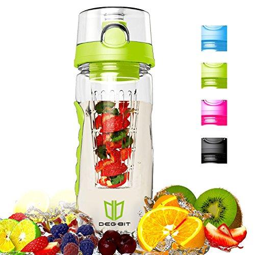 Botella, Degbit Plástico ecológico y sin BPA botella de agua, aprox. 1L...