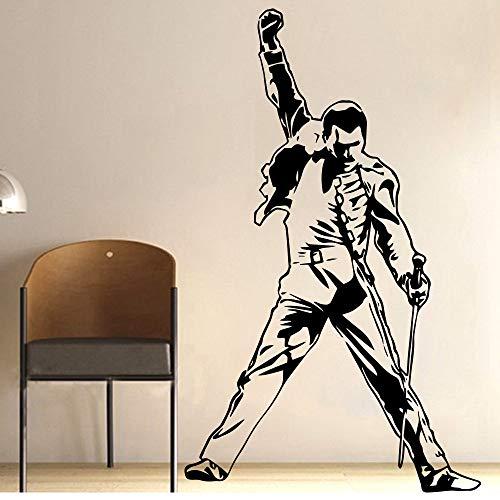 Vintage Music Super Star Cantante principal Freddie Mercury Queen Band Rock Rap Vinilo Etiqueta de la pared Papel pintado Decoración de la habitación Dormitorio Art Decal Poster Gift 70 * 114cm
