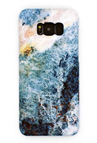 Mrwildstudio Funda para teléfono móvil con ágata azul para Samsung Galaxy S8 Plus, funda S8+ G955