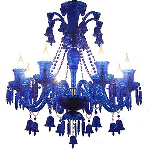 N/Z Equipo Diario E Candelabro Estilo Europeo Lámparas de Color Azul Candelabro de café difuso Luz de Cristal Tienda de Ropa Luces Decorativas E