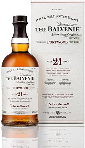 The Balvenie Portwood Single Malt Scotch Whisky 21 Jahre mit Geschenkverpackung (1 x 0,7 l)
