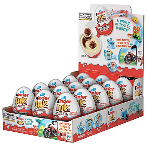Kinder Joy Eggs, 15 Count Individually Wrapped Chocolate Candy Easter Eggs With Toys Inside, Perfect Easter Basket Stuffers for Kids, 10.5 Oz, Packaging May Vary from Ferrero USA