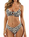 Photo de BMJL Bikini push up pour femme Motif léopard - Multicolore - Medium par