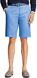 "Men's 74623 Garment-Dyed Cotton Stretch Chino Shorts 10"" Powder Blue Shorts"