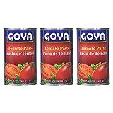 Goya Pasta de Tomate - Tomato Paste (3 Pack, Total of 54oz)