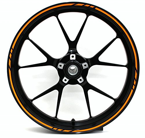 """Finest Folia - Adesivi per cerchioni in design GP, 16 pezzi, set completo, adatto per cerchioni da 17"""", 16"""", 18"""", 19"""", per moto, auto e bicicletta"""