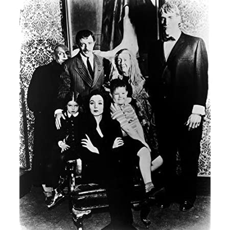 The Addams Family Portrait Black and White Poster 2 Sizes Available