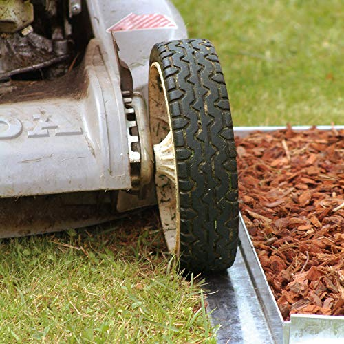 Bellissa Bordure Comfort galvanisé 118 x 9 cm Bordure de limitation de pelouse de jardin monde Verrou Berger 30 Stück