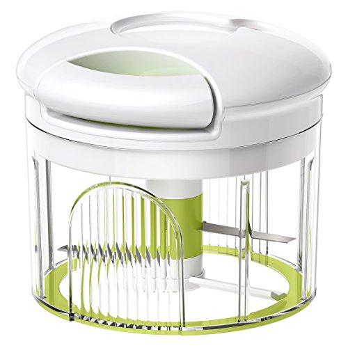 Emsa 515043 Kräuter (Gemüseschneider, Volumen 0,9 Liter, Turboline) weiß/grün
