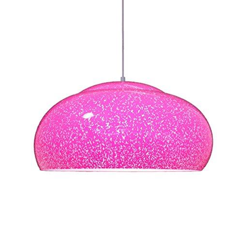 130 - Hängelampe mit dot Dekoration pink Farbe 1XE27, aus Plexiglas, ideal für viele Räume im Haus Ø30cm - Made in Italy