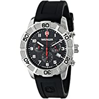 Wenger Roadster Chrono Stainless Steel Men's Watch With Black Silicone Band (01.0853.101)