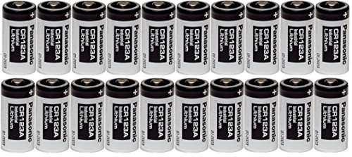 Panasonic 20 CR123A 123A Industrial 3V Lithium Batteries