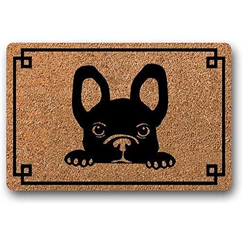 Novelcustom Zerbino,Zerbino del Grafico dello Zerbino di Estate di Benvenuto del Cane dello Zerbino del Cane di Zerbino del Bulldog Francese,50Cm*80Cm