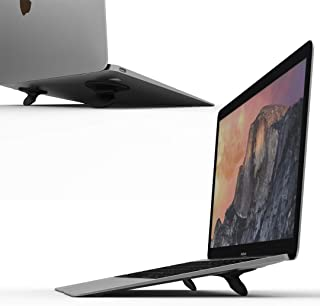 Portable Laptop Stand for Desk, Foldable Laptop Desk Stand Invisible Lightweight Ventilated Laptop Riser Computer Stand for Laptop Holder Compatible with MacBook Pro, MacBook, MacBook Air, Tablets
