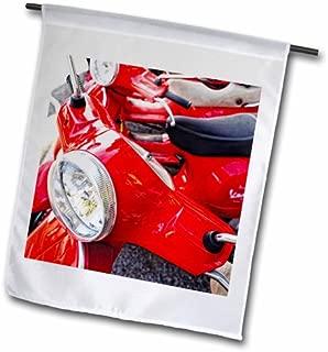 3dRose fl_82173_2 Italy, Tuscany, Radda. Vespa Scooter EU16 RDU0243 Richard Duval Garden Flag, 18 by 27