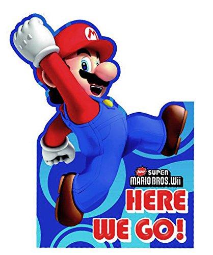 Creative Super Mario Bros Party Invitations (Lot de 6)