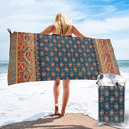 N/A Antik Englisch Axminster Teppich Druck Strand schnell trocknend Handtuch Mikrofaser Yoga Fitness saugfähig Handtuch Outdoor Klettern schnell trocknend Handtuch