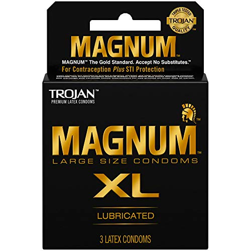 Paradise Products Trojan Magnum XL, Extra Large Condoms, 3 Count