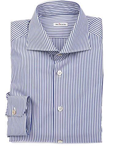 Kiton Herren 639118 Blau Baumwolle Hemd