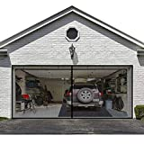 Garage Screen Door for 2 Car 16x7FT Garage Doors,Heavy Duty Door Screen Curtain for Garage Door,Hands Free Magnetic Screen Door