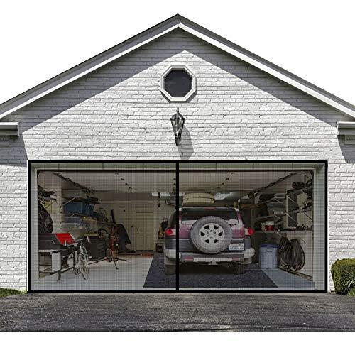 Garage Screen Door for 2 Car 16x7FT Garage Doors,Heavy Duty Door Screen Curtain for Garage Door,Hands Free Magnetic Screen Door