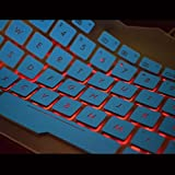 Leze - Ultra Thin Keyboard Cover for Asus ROG Strix GL753 GL753VD GL753VE GL553 GL553VD GL553VE, ZX53VW Gaming Laptop - Backlight Blue