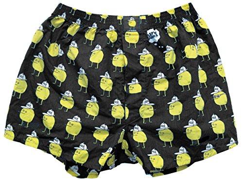 Lousy Livin Underwear Herren Boxershorts Zitrone Black Gr. M