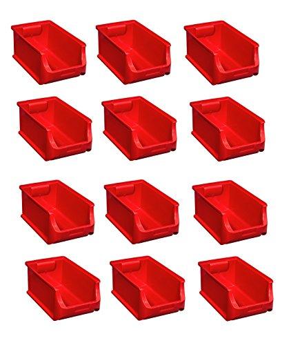 12x Stapelbox Gr 4 rot Stapelboxen Lagerboxen Lagerkiste ProfiPlus Allit 456213