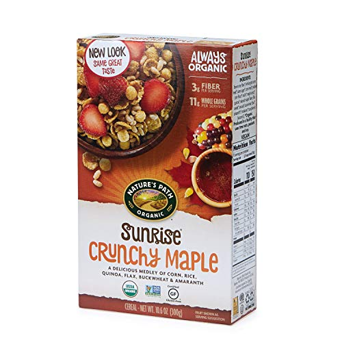 Nature's Path Sunrise Crunchy Maple Cereal, Healthy, Organic,...