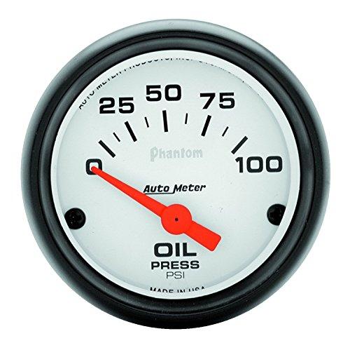 Auto Meter 5727 Phantom Electric Oil Pressure Gauge,2.3125 in.