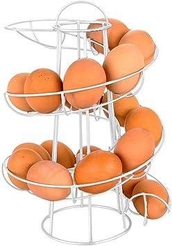 Blssom Eggs Deluxe Dispenser per uova a spirale frigorifero tavolo da pranzo 1x egg rack bianco per cucina