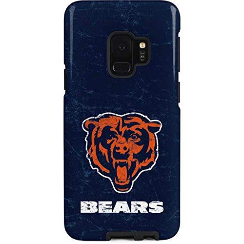 Skinit Pro Phone Case Compatible with Samsung Galaxy S9 - Officially Licensed NFL Chicago Bears - Alternate Distressed Design