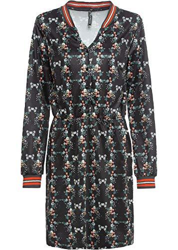bonprix Kleid mit Blumen schwarz geblümt 36/38 für Damen