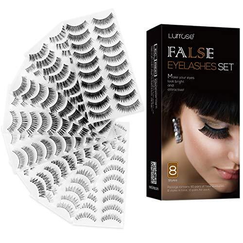 Lurrose Wimpern 80 paar lashes verlängerung Künstliche Wimpern Natürliche Multipack falselashes fakewimpern für Make-up