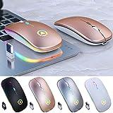 ratón inalámbrico Óptico de juego ratón gamer Ratones USB Recargable RGB Para PC Portátil Ordenador de la oficina libre de Cuero alfombrilla de ratón