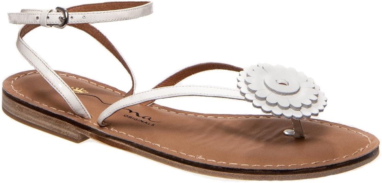 Nina Originals Ultra Flat Thong Sandal - White Patent
