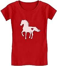 Tstars - Gift for Horse Lover Love Horses Girls' Fitted Kids T-Shirt