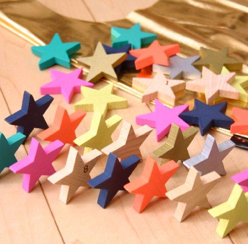 kiko+ tanabata(キコ たなばた 七夕) 星形ドミノセット 木製 積み木 木のおもちゃ ドミノ倒し 出産祝いや誕生日プレゼントに!
