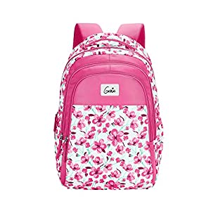 Genie Camellia 27 litres Pink School Backpack (17 inch, Water Resistant)