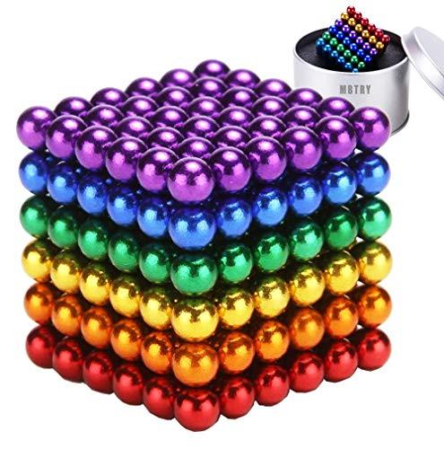 MBTRY Cubo de bolas de 5 mm, 216 bolas de colores de juguete para aliviar el estrés, habilidades de pensamiento, juguetes de oficina para adultos