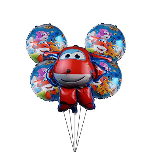 Party Supplier For Super WingsJett Airplane Foil Balloon for Kids Party Birthday Decorations
