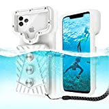 ZENOPLIGE Professional Diving Phone case, Universal Fit Waterproof Snorkeling Photo & Video Smart Phones Clear Cover Triple IP68 Protect Dry Bags Pouch [20m/65ft], Mobile Phone Swimming Skiing Protect