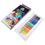 BANGNA 12 Colores 12 ML Tubo de Pintura acrílica Conjunto de Herramientas de Dibujo de Pintura artística para niños DIY