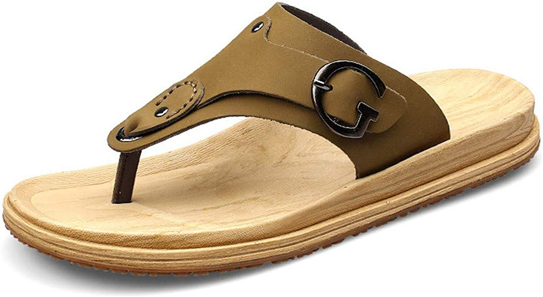 YoiGn Herren Sandale Single Schuhe Stiefelschuhe Herren Sommer Flip-Flops rutschfeste Freizeit Waten Aktivitten Strandschuhe Im Sommer frisch und atmungsaktiv (Farbe   Khaki, Gre   8.5)