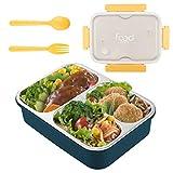 Lunch Box in Acciaio Inox, Scatola da Pranzo Bento-Box con Coperchio in Plastica,Bento Box...