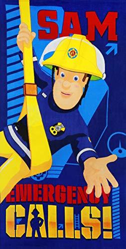 SETINO 821-208 Feuerwehrmann Sam Strandtuch Badetuch 70cm x 140cm