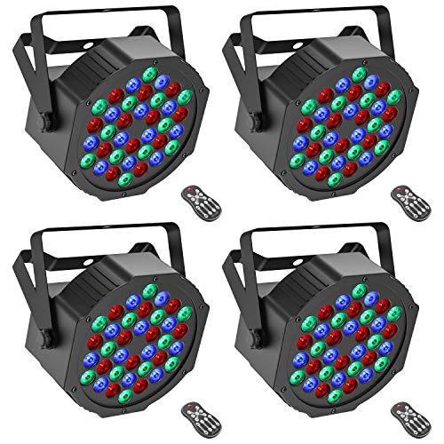 Donner 4 Packs 36 LEDs DJ Par Li...
