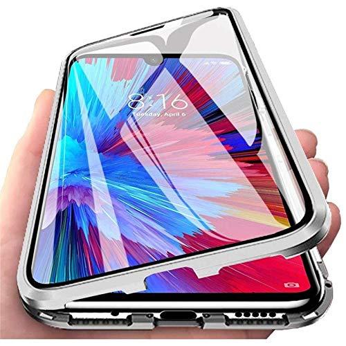 Funda para Samsung Galaxy S21+ / S21 Plus 5G, Carcasa Adsorción Magnética 360 Grados Protección Delantera y Trasera de Transparente Vidrio Templado Cover, Fuerte de Metal Bumper Cubierta Case